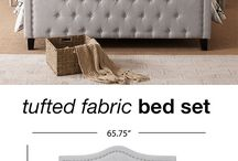 Tufted Fabric Bed Set