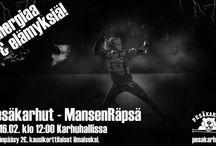Pesäkarhut vs. MansenRäpsä sunnuntaina 16.2.2014 kello 12.00 Karhuhallissa.