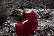 redhead girl, nature photography / Outdoor photography