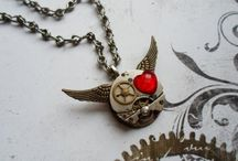 My work - jewelry - stempunk, psychobilly, gothic...