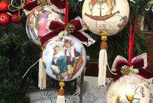 vianočna vyzdoba krakelovanie