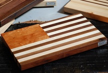 Cutting Board Class - Finished Projects / Want to make your own? Or make one as a gift? Class is $175 over two Fridays, and comes with some wine and snacks. Can even bring a friend/helper/SO - great deal/great fun. www.gowanusfurniture.com to sign up.