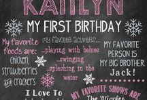 Zoe's 1st birthday