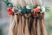 Hippie bohemian bridal hair