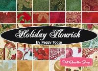 "Holiday Flourish 7 by Robert Kaufman / ""Holiday Flourish 7"" by Peggy Toole for Robert Kaufman Fabrics"