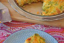 pastel de zanahoria y brocolis