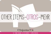 OTHER ITEMS - OTROS - MEHR / En esta categoría podréis encontrar accesorios chulísimos como cubrebotas, monederos, llaveros, espejitos para bolsos, zapatos en un futuro próximo, etc. — en http://www.conjuntados.com/es/otros.html.