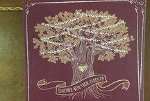 Purple and Gold Oak Tree Wedding
