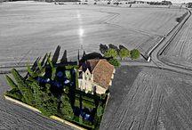 Photos aériennes / Les images prises depuis un drone.