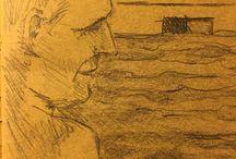 my work Cold water #drawing #sketch #sketchbook #art #pencil #summer #Loire