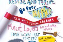 Paper Art Posters / Inspiratie voor deelnemers aan workshop: paper art poster