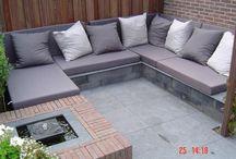 Loungebank steen