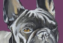 pintura bull dog frances