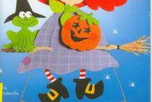 Őszi-Halloweeni dekoráció