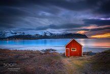 """""""Red Shack Rambergstranda beach"""