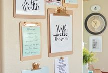 Office Inspiration / I love everything to do with home and office decor! Here are some awesome office ideas I found on Pinterest to inspire you.   Home office ideas, Office décor, office design, office decoration ideas, home office, Office supplies.
