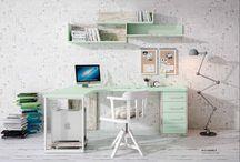 Zona de Estudio / #deco #decoracion #zonaestudio #escritorio #homeoffice #desk #dormitorio #juvenil #juniorroom  www.exojo.com