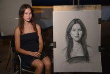 JulioPuentes-Lápiz/Carbon / El trabajo del maestro Julio, me parece inspirador y de gran experiencia, en retratos en  carbón. Analizar su estilo para encontrar mi estilo.