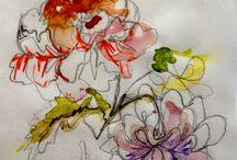 Splashy florals
