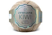 Zealana KIWI Lace / Zealana is made from 40% fine New Zealand merino, 30% organic cotton, and 30% brushtail possum. It's the perfect choice for garments that need to go the extra mile and back again...with lots of washings in between!