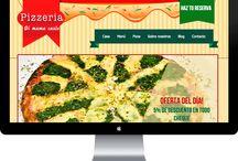 Diseño web Pizzeria Di mama Carlo / Diseño web para Pizzeria