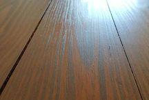 Maple Flooring Refinished in Houston Heights / New installation of maple wood flooring then we did a refinishing.