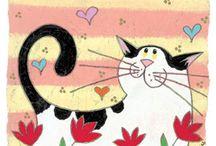 кошка которая любит цветы