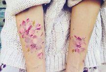 Watercolor tattoo roses