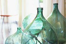 bottiglie di vetro