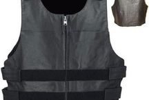 Bulletproof leather vests / Note: NO BALLISTIC PROTECTION from high-projectile impacts like bullets fired from handguns or zip guns. This is just a REPLICA of Bulletproof style vest popular among Sports Bike clubs, Social Clubs and Auto Clubs.