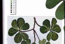 листья /  схемы для вышивки