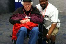 Stars and Stripes Honor Flight / 2015 Honor Flight trip for my dad and US Navy WW2 vet Henry Bilbo Jr