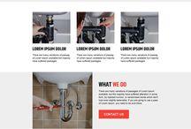 plumbing landing page design
