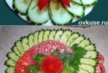 Saladas e salgados