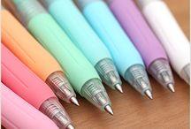 Pens and pencils / pens