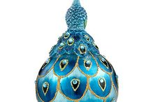 Christmas peacock