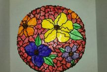 Stained Glass Painted Cakes