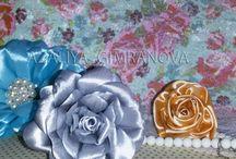 Цветы из ткани, Интерьерные цветы, топиарий
