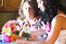 wedding - pink, orange & green