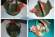 Mikyna-moje pletení / pletení s papíru