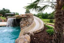 Waterfalls & Grottos / Examples of different designs of waterfalls and grottos.