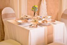 Juta és csipke esküvői dekoráció / Juta esküvői dekoráció csipkével
