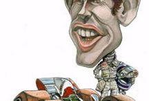 caricatures F1 et moto