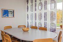 Psykiatrihuset, Lund, Sverige / Selv om farver og designs varierer, skaber tekstilerne en helhed og et samlet udtryk i Psykiatrihuset.