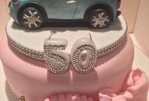 50th birthday cake Mini Cooper