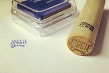 Signature Geocaching Stamps / Custom stamps used to sign geocache logs.