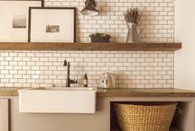 home: bathroom/laundry / by Emily Mullen
