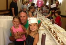 """Ice Cream Festival Weekend at PGA National Resort August 2013 / PGA National hosted a whole weekend of sweet frozen treat fun August 16-18,2013, culminating in an attempt to win the Guinness Book of World Records title of """"World's Longest Ice Cream Sundae."""""""