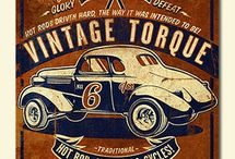 old car poster