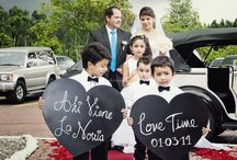 tableros llegada de la novia